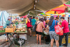 Vue scénique du marché de matin dans Ampang, Malaisie Image libre de droits
