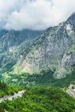 Vue scénique merveilleuse des crêtes de montagne Photographie stock