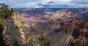 Vue scénique pittoresque de paysage stupéfiant en parc national de Grand Canyon, Arizona LES USA Image stock