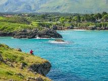 Vue scénique près de Playa de Troenzo, Celorio, Asturies, Espagne du nord Images stock