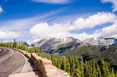 Vue scénique sur la route d'arête de traînée, le Colorado Photographie stock libre de droits