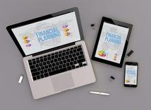 Vue sensible de zénith de planification financière de conception Photographie stock
