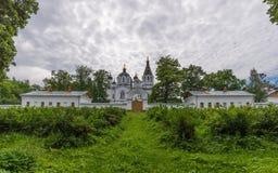 Vue Skeet All Saints Monastère de transfiguration de sauveur de Valaam Images stock