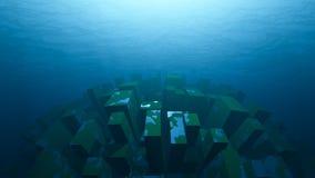 Vue sous-marine d'objet Photographie stock