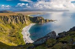 Vue spectaculaire de montagne de Matind images libres de droits