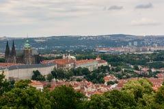 Vue supérieure à la vieille ville de Prague Photographie stock libre de droits