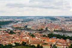Vue supérieure à la vieille ville de Prague Photos libres de droits