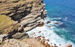 Vue supérieure aérienne des vagues de mer Photographie stock