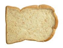 Vue supérieure découpée en tranches de pain d'isolement sur le fond blanc, clipath photos stock
