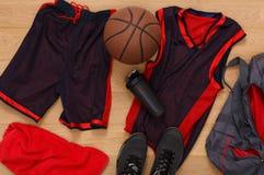 Vue supérieure d'équipement de joueur de basket Photos libres de droits