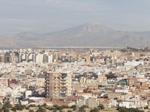 Vue supérieure d'Alicante Photo stock