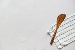 Vue supérieure d'arrangement de Tableau de serviette minimale de spatule images libres de droits