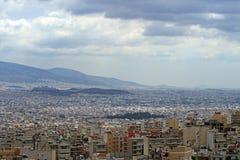 Vue supérieure d'Athènes Photos libres de droits
