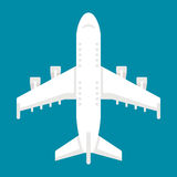 Vue supérieure d'avion plat de conception Photographie stock