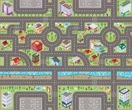 Vue supérieure 3D de carte de route illustration stock