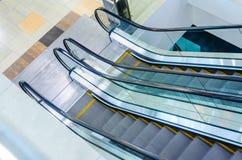 Vue supérieure d'escalier d'escalators Photo stock