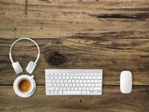 Vue supérieure d'espace de travail avec le copyspace Photo libre de droits