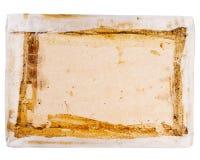 Vue supérieure d'insertion de boîte de carton Image libre de droits
