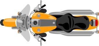 Vue supérieure d'isolement par moto de croisière Image stock