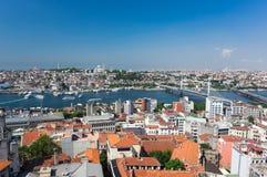 Vue supérieure d'Istanbul images libres de droits