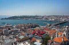 Vue supérieure d'Istanbul image stock