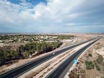 Vue supérieure d'une route en Israël Images libres de droits