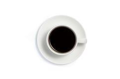 Vue supérieure d'une tasse de café Photo libre de droits