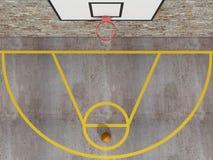 Vue supérieure de basket-ball de rue Photographie stock
