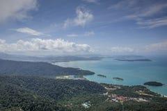 Vue supérieure de belle île photo libre de droits