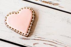 Vue supérieure de biscuit de coeur Photo libre de droits