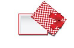 Vue supérieure de boîte-cadeau vide Image stock