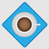 Vue supérieure de café de matin Images stock