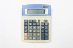 Vue supérieure de calculatrice sur le fond blanc Images stock