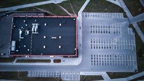 Vue supérieure de centre commercial Vue d'oeil du ` s d'oiseau photos stock