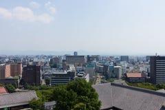 Vue supérieure de château de Kumamoto dans Kumamoto Japon Photographie stock libre de droits