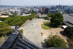 Vue supérieure de château de Kumamoto dans Kumamoto Japon Photographie stock