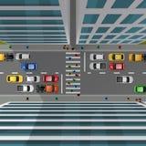 Vue supérieure de circulation urbaine illustration stock