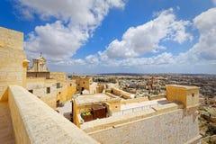 Vue supérieure de citadelle, IR-Rabat, Malte Image stock