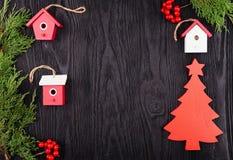 Vue supérieure de composition en Noël photo stock