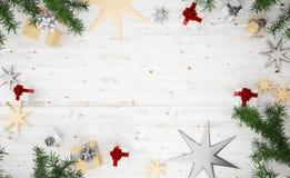 Vue supérieure de composition en Noël Photos stock