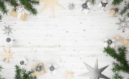 vue supérieure 2 de composition en Noël Images libres de droits