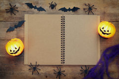 Vue supérieure de concept de vacances de Halloween Photo libre de droits