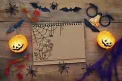 Vue supérieure de concept de vacances de Halloween Photographie stock libre de droits