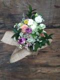 Vue supérieure de disposition de bouquet de fleur Image libre de droits