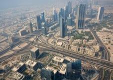 Vue supérieure de Dubaï images libres de droits