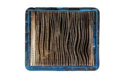 Vue supérieure de filtre à air sale Images stock