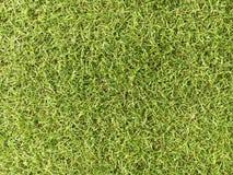 Vue supérieure de fond artificiel de vert d'herbe Image stock