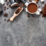 Vue supérieure de fond de café image stock