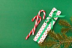 Vue supérieure de fond de préparation de Noël Photo libre de droits