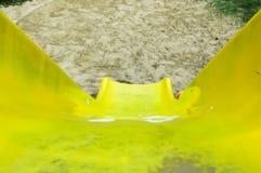 Vue supérieure de glissière jaune Photo stock